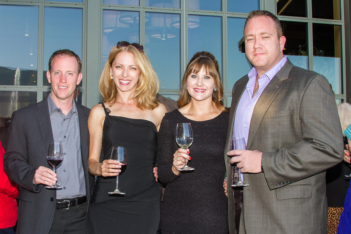 Marcom Group's (from left to right) Joe Harrison, Alona Harrison, Heather McAllister, and Emery Lykins.
