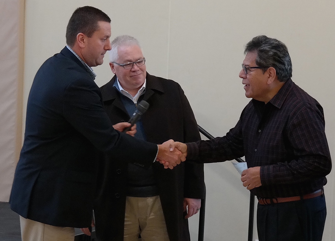 On December 12, MVAT board members Andrew Schwarz and George Wood presented a $10,000 check to Fred Gusman (on right), head of The Pathway Home, so that soldiers with Post Traumatic Stress (PTS), Traumatic Brain Injury (TBI), and other post-combat mental health challenges, receive treatment at The Pathway Home's residential facility on the grounds of the California Veteran's Home in Yountville, California.
