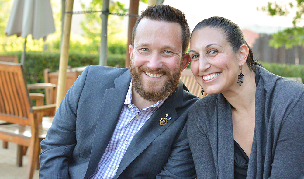 Retired U.S. Army Staff Sergeant Jeremiah Pauley and Crystal Gonzalez at the May 2, 2015 event. Staff Sergeant Pauley, a combat wounded Veteran of the Iraq War, was a featured speaker at last year's event.